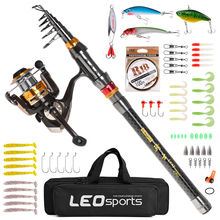 Fishing Rod and Reel Combo Carbon Fiber Telescopic Fishing Rod with Spinning Reel Combo Fishing Lures Jig Hooks Full Kit new lure rod set spinning rod fishing reel combos full kit 1 8m 3 0m fishing rod pole reel line lures hooks portable bag