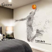 Креативный баскетбольный постер настенный стикер для мальчиков