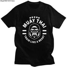 Красивый мужской Муай тайская футболка рубашка с короткими рукавами
