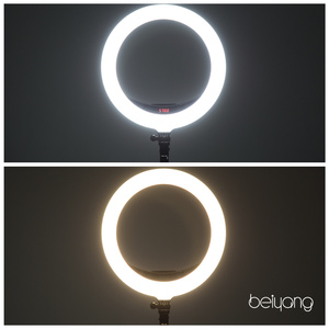 "Image 4 - Beiyang 240C 14 ""調光可能な写真撮影の光 led リングライト 3 色 3200 5600 18k 240 led リング用電話フォトスタジオ"