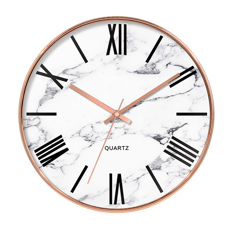 Nordic Modern Gold Wall Clock Silent Creative Big Rose Gold Clocks Wall Home Decor Marble Kitchen Clock Duvar Saati Gift FZ866