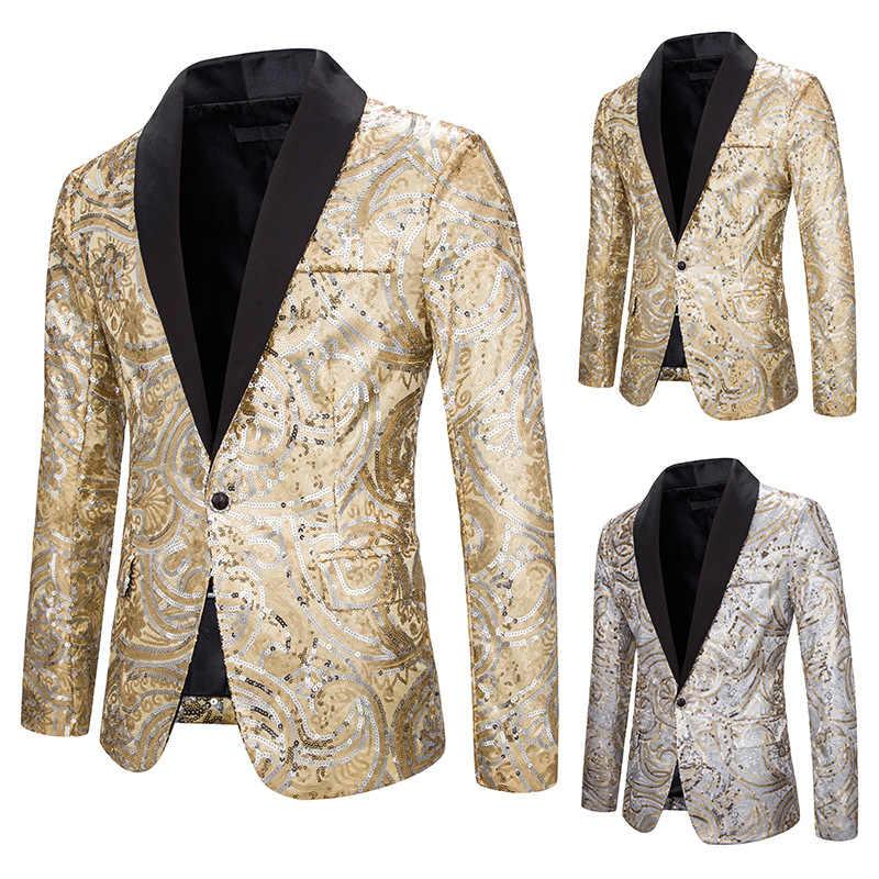 Stage Kostuum Mode Lovertjes Mannen Blazer Nachtclub Zanger Kleding Jazz Rave Show Outfit Mannen Avondfeest Dragen DT1817