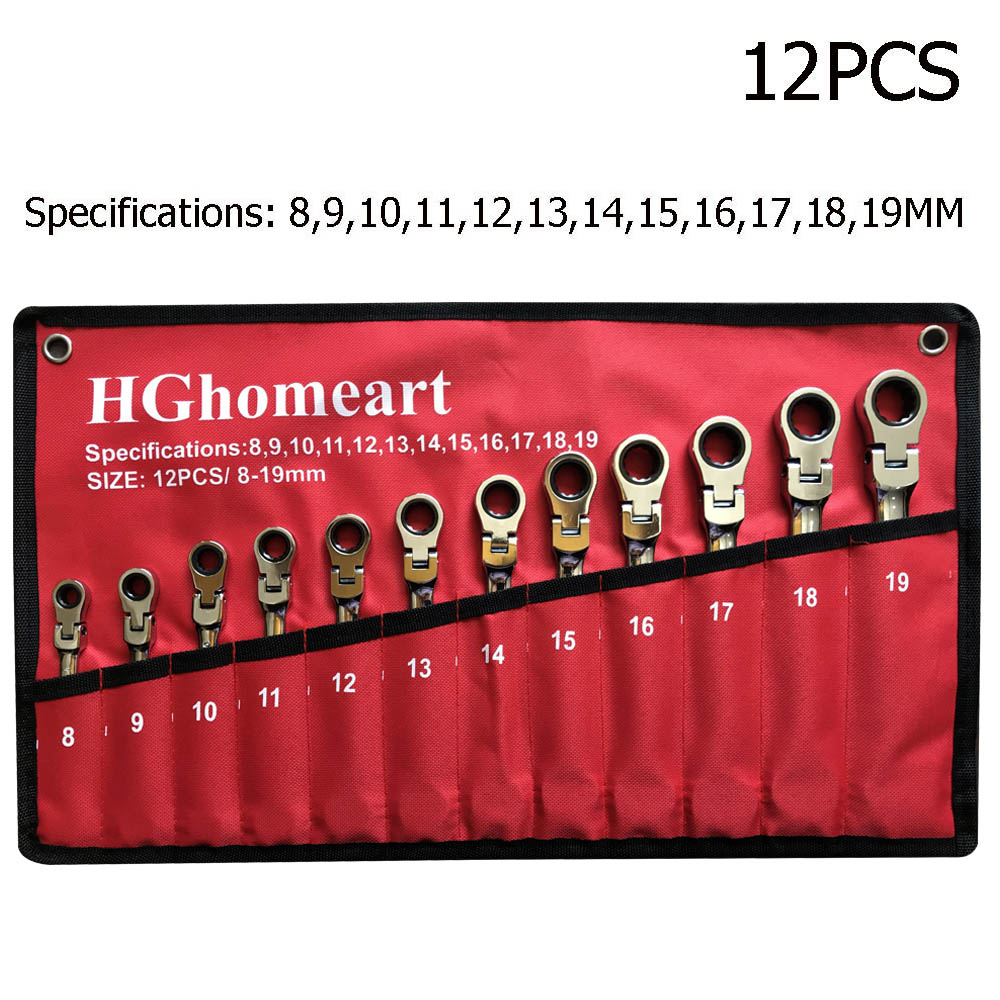Socket Wrench Tools Key Hand Tool Set Spanner Wrench Socket Hand Tools Wrenches Garage Tools Car Wrenchs Universal Ratchet