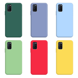 For OPPO A72 Case Pure Color Silicone Case Macaron Colors Candy hue Soft TPU Simple Black Casing Phone Back Cover