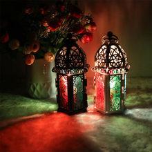 Candelabro rústico huracán candelabro Pilar candelabro Vintage jardín lámpara soporte decoración hogar farol marroquí vela