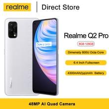 Realme Q2 Pro 5G Mobile phone 8GB 128GB 6.4'' FHD+ Dimensity 800U Octa Core 48MP AI Quad Camera 4300mAh  Android 10 Smartphones