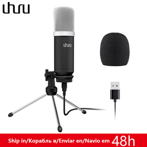 Image 1 - UHURU UM960 USB Microphone 192kHz/24bit Professional Podcast Microfono Condenser Mic With Tripod Stand for Computer Youtube