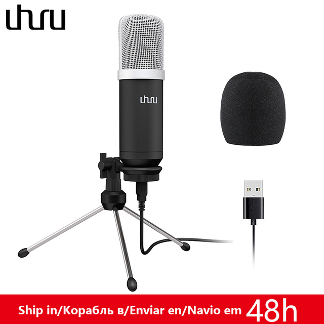 UHURU UM960 USB Microphone 192kHz/24bit Professional Podcast Microfono Condenser Mic With Tripod Stand for Computer Youtube
