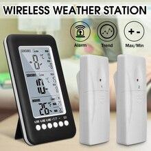 Беспроводной цифровой термометр с 2 датчиками для дома и улицы