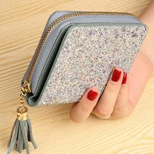 Women Fashion Genuine Leather Tassel Wallet Purse Credit Card Holder Cards Case Pocket Organizer