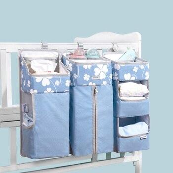 Sunveno Baby Storage Organizer Crib Hanging Storage Bag Caddy Organizer for Baby Essentials Bedding Set Diaper Storage Bag 7