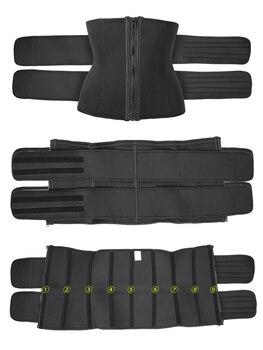 Waist trainer Slimming Belt Sauna Sweat Faja  tummy shaper Shaper Trimmer Straps Modeling Shapewear body binders shaper girdle 3