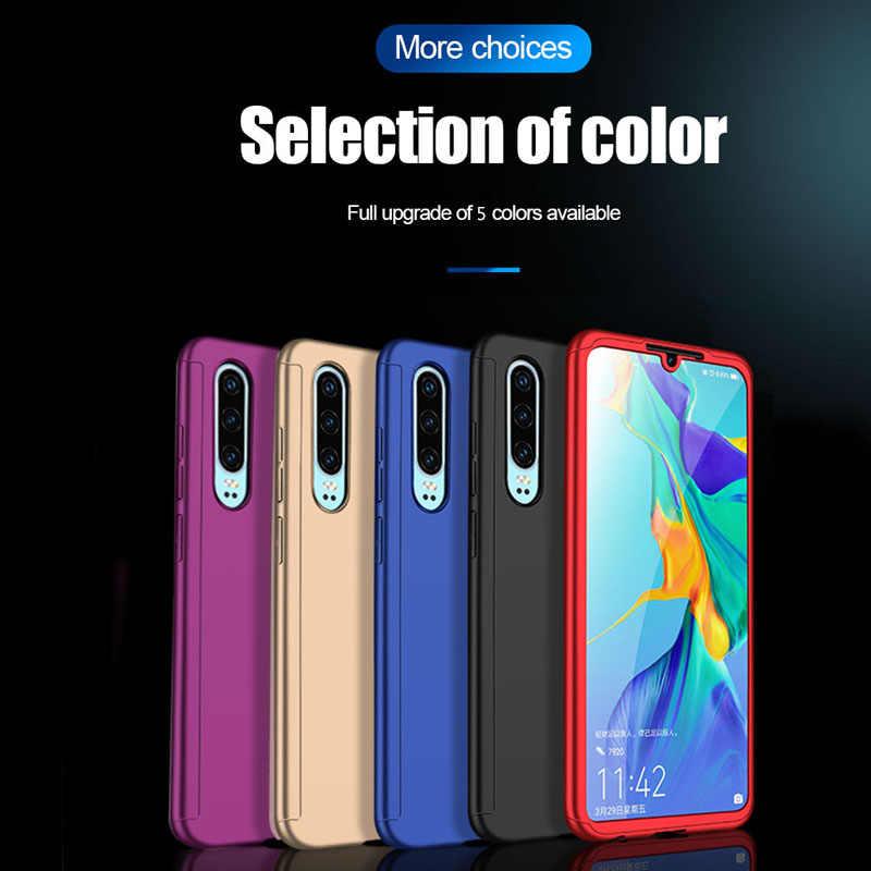 360 tam kapak cam telefon kılıfı Huawei onur arkadaşı için 10X30 P8 P9 P10 P20 P30 Nova 5i artı pro Lite 2019 koruyucu arka Coque