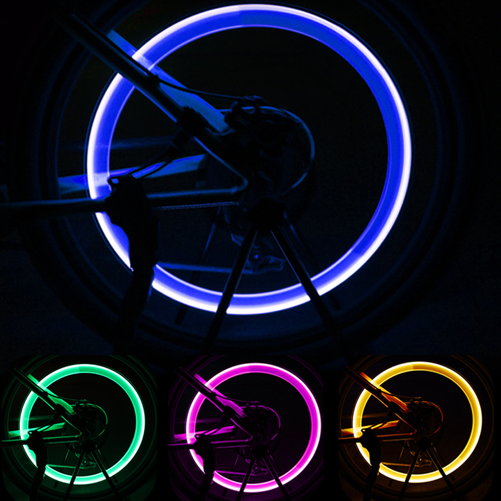 US $0.64 15% OFF|2Pcs Bike Light Neon Lights Tyre Wheel Valve Cap Light LED Flash Car Tire Valve Caps Air Cover Tire Rim Valve Wheel Stem Cap|Tire Accessories| |  - AliExpress