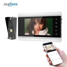 Jeatone 7 дюймов беспроводная wi fi видеодомофон с 720p водонепроницаемый