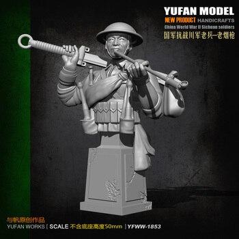 Yufan Model Bust Resin Soldier Originally Created Chinese Anti-japanese War Veterans YFWW-1855 фото