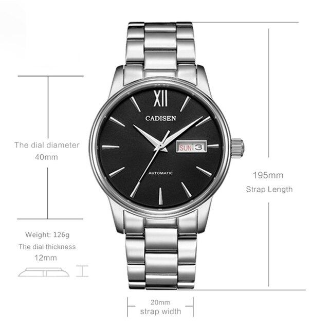 Фото мужские наручные часы cadisen спортивные водонепроницаемые с