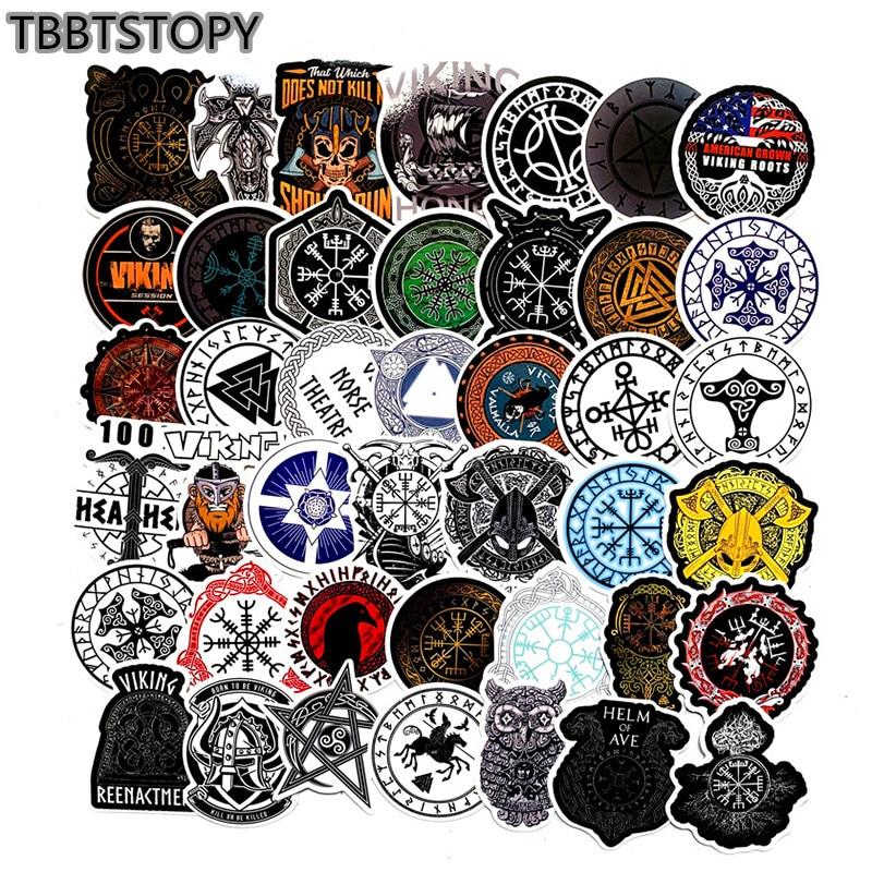50Pcs Vikings Stickers For Suitcase Luggage Laptop Phone Fridge Skateboard Motorcycle Bicycle Graffiti Guitar Waterproof Sticker