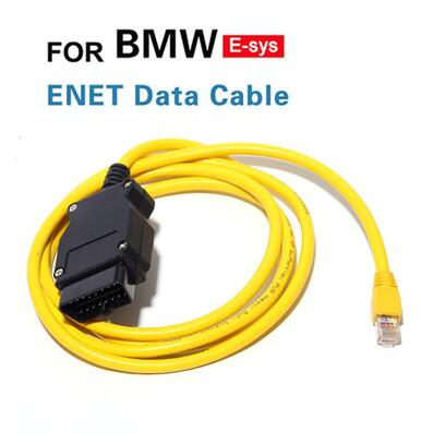 OBD 16PIN car <font><b>diagnostic</b></font> interface connector for <font><b>BMW</b></font> ENET crystal head interface OBD2 plug image