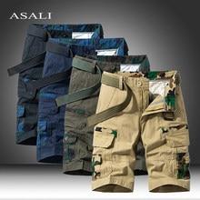 Hommes militaire Cargo Shorts 2021 flambant neuf armée Camouflage tactique Shorts hommes coton travail en vrac décontracté court pantalon grande taille