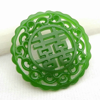 Hand-Carved Jewelry Natural Green Jade Pendant Necklace Chinese Double-sided Hollow Out Charm Jadeite Fashion Amulet Lucky Gifts 1pc fashion chinese green jade cross pendant necklace hand carved charm jadeite natural jewelry amulet for men women gifts white