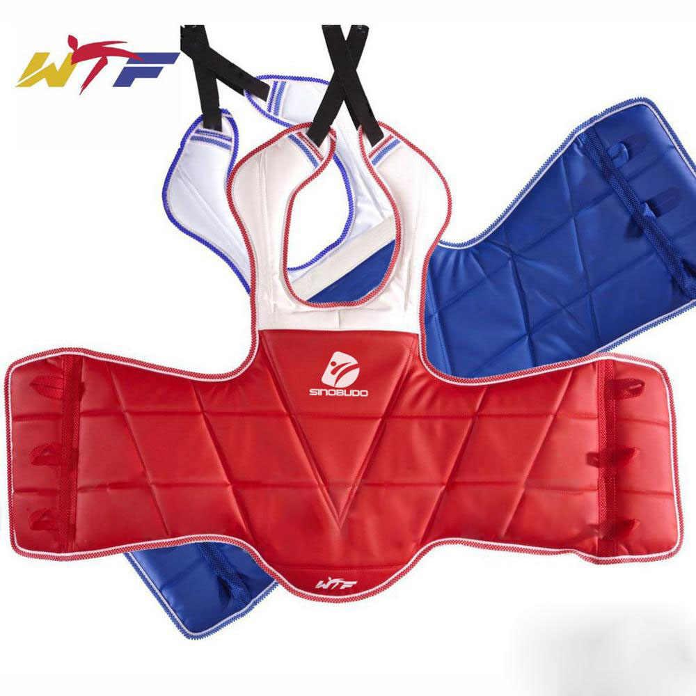 Reversible Protector de Pecho Artes Marciales Costilla de Escudo Armadura Entrenamiento de Taekwondo Rubyu Protector de Pecho Protector de Cuerpo de Boxeo Ni/ño Adulto