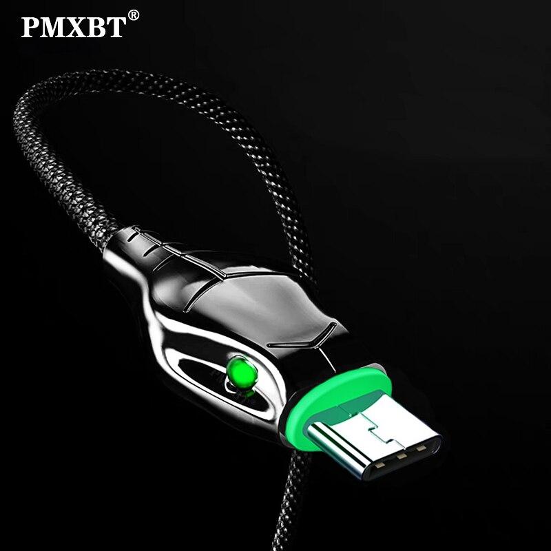 Cabo usb longo tipo c, 5a, 1m, 2m, 3m, mamba, carregamento rápido para celulares cabo de dados do telefone qc3.0 carregador USB-C cabo