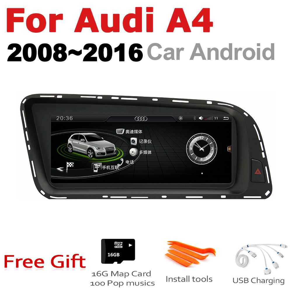 Car Audio Android 7.0 up GPS Navigation For Audi A4 8K 2008~2016 MMI WiFi 3G 4G Multimedia player Bluetooth 1080P image