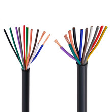 цена на RVV black cable 17AWG 1.0MM 2 core 3 core 4 core 5 core 6 core 7 core 8 core 10 core 12 core 16 core 20 control signal wire