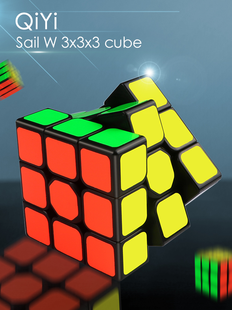 Educational-Toys Puzzle 3x3 Cube Magic-Cube 3x3x3-Speed Black Qiyi Professional Children