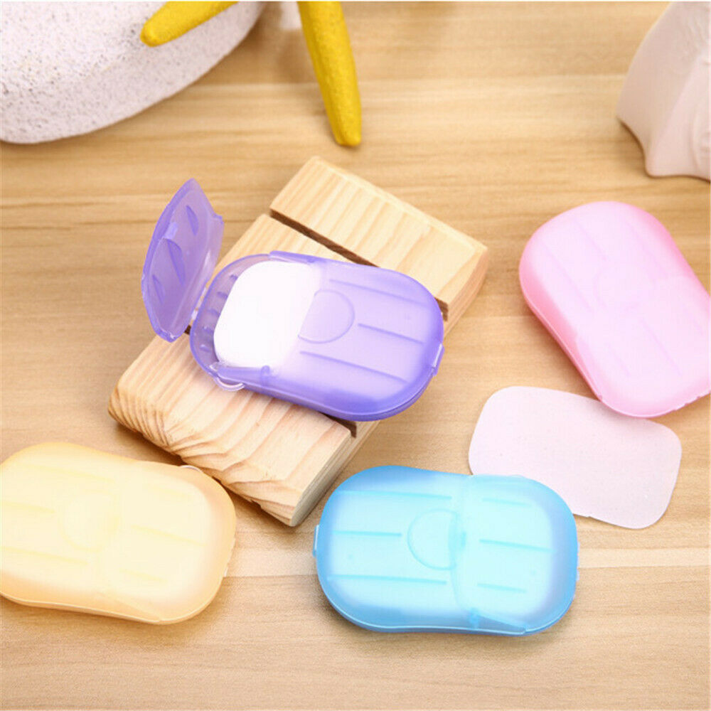 20PCS Portable Disinfection Anti-Bacterial Soap Paper Tablets Disposable Tab