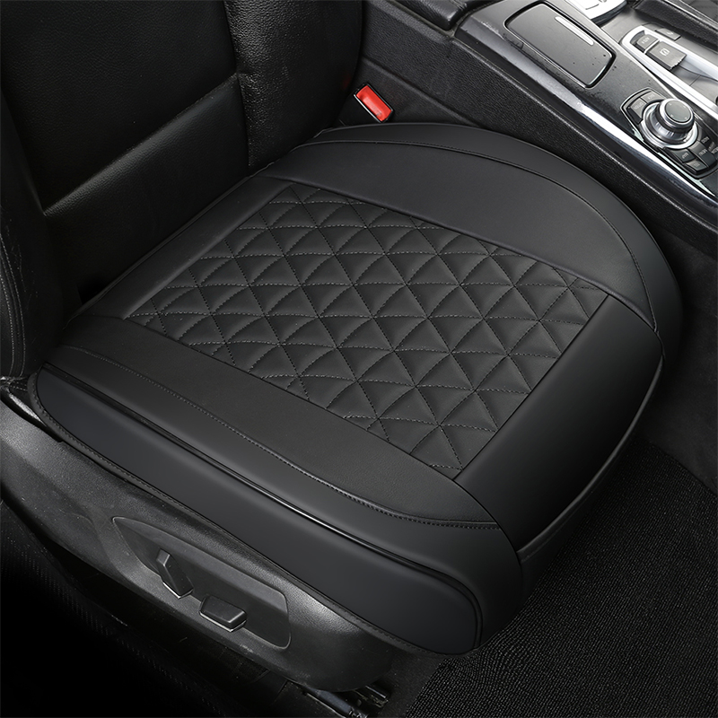 3D Waterproof Leather Car Seat Cover Protector Auto Seat Cushion Mat Breathable Car Front Seat Cover Universal Size With Pocket