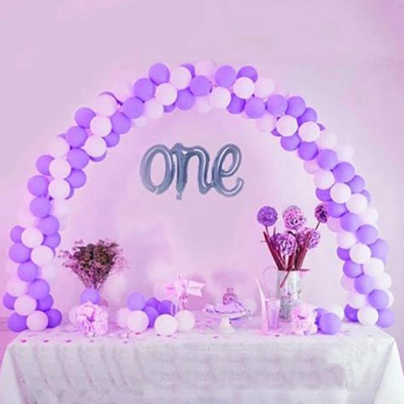 Ballon arc ensemble/100 pièces ballons table arche détachable colonne support Base cadre Kit bébé douche anniversaire fête de mariage décoration