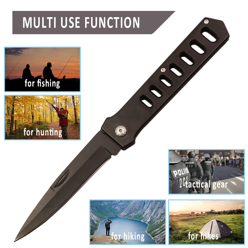 Karambit Tactical Folding Black Blade Hunting Knife Fruit Small Straight Mini Handle EDC Pocket Outdoor Tools Camping Survival in Knives from Tools