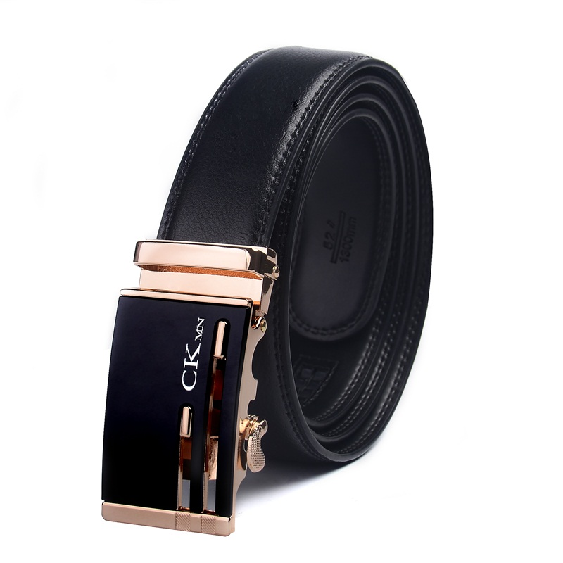 Top Quality Cow Genuine Leather Belt Men Genuine Luxury Leather Belts For Men Strap Male Metal Automatic Buckle