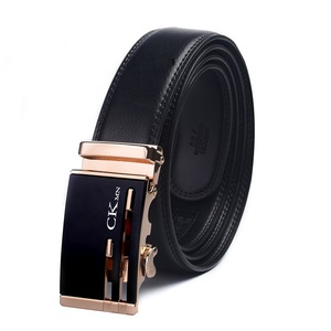 Image 2 - Top Quality Cow Genuine Leather Belt Men Genuine Luxury Leather Belts for Men Strap Male Metal Automatic Buckle