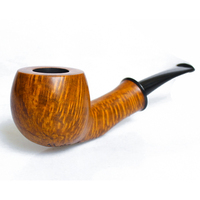 Wooden Pipes for Smoking Briar pipe Tobacco smooth hand made nice flame large pipes#L109
