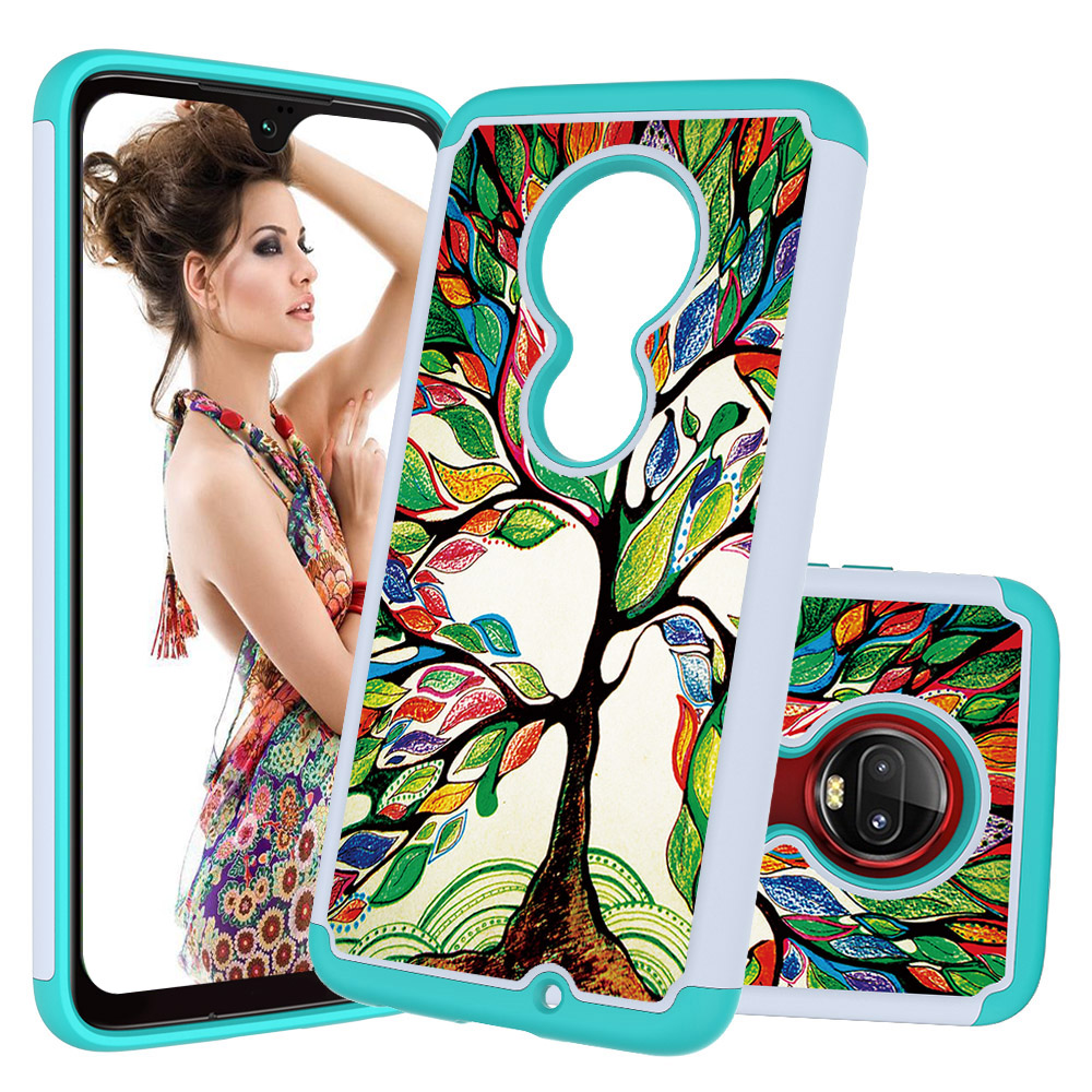 2 In 1 Hybrid Phone Cases for Motorola Moto G7 Play Power Z4 Back Cover Plus Hard PC Soft TPU Funda Coque