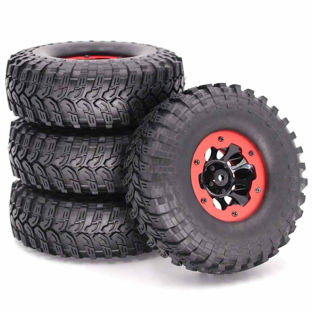 4 sztuk 1/10 2.2 cal nadmuchiwane pneumatyczne felgi i gumowe opony opony do 1/10 samochód zdalnie sterowany RC Truck Car akcesoria
