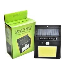 48 Светодиодный светильник на солнечной батарее, наружная садовая лампа, украшение, PIR датчик движения, Ночной Настенный фонарь безопасности, водонепроницаемый