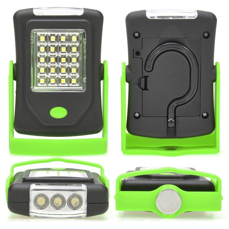 Super Bright 23 LED Magnetic Work Light Flashlight Pocket Lamp Linternas With Folding Hanging Hook For Outdoors Camping Lighting