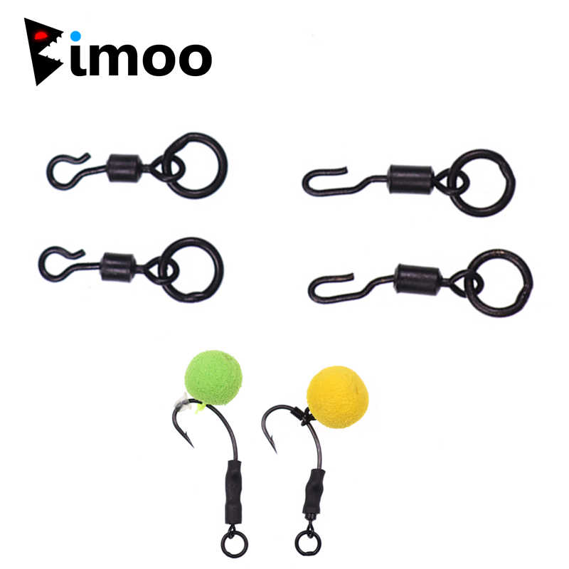 Bimoo 10 Pcs Uk 11 Messing Karper Vissen Quick Change Ring Swivel Ronnie Rig Wartels Haak Connector Accessoire