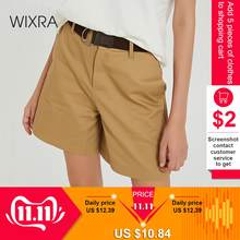Wixra 2019 Nieuwe Solide Toevallige vrouwen Shorts Hoge Taille Zakken Casual Zomer Shorts Chic S-XXL Dames Bodem(China)