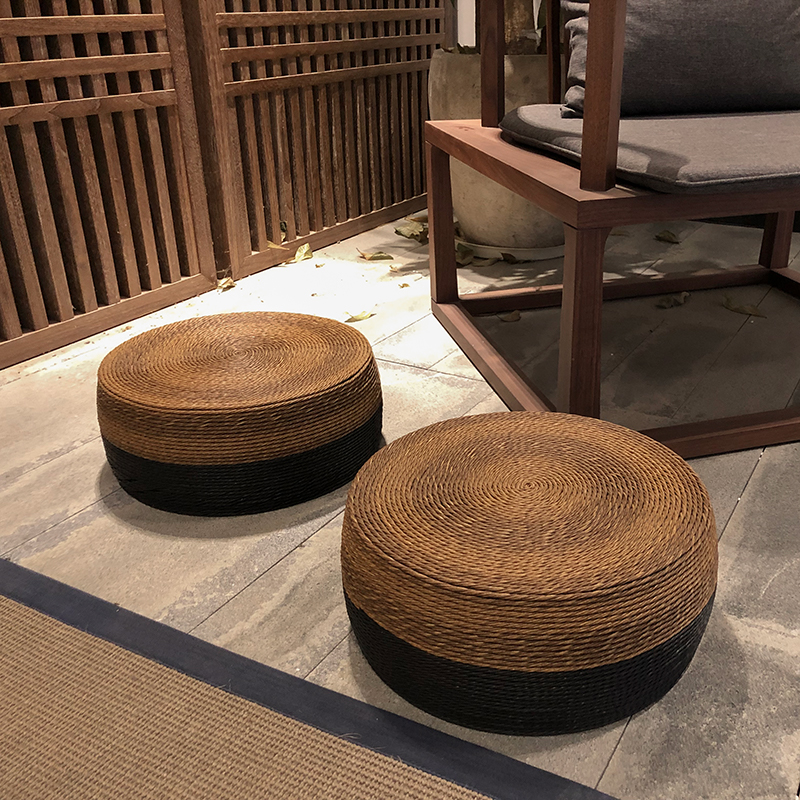 Oriential Style Classic Design Stool Shoes Changing Bench Decorative Chinese Furniture Japanese Zen Tatami Low Stool