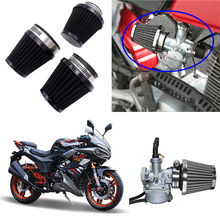 1 Pcs 35mm 39mm 48mm 54mm 60mm Universal Motorcycle Air Filter Cleaner Air Pod for Honda Yamaha Harley Cafe Scooter Filter