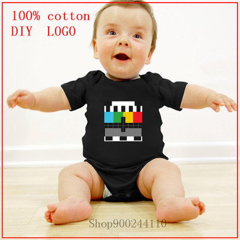 Test signal bars on television Test Pattern Bodysuits baby girl clothes newborn size new born baby boy clothes 3 to 6 months image