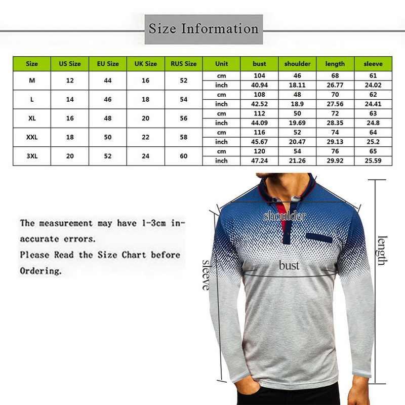 Loozykit Kualitas Tinggi Kaus Polo Pria Patchwork Pria Lengan Panjang Polo Kemeja Camisa Polos Masculina Kasual Populer Ukuran Plus