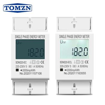 80A Din rail Single Phase Two Wire LCD Digital Display Power Consumption Energy Electric Meter kWh AC 220V 230V 50Hz/60Hz - discount item  20% OFF Measurement & Analysis Instruments