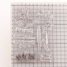 brandy smith clear wishes Flower Leaves Morning Glory Transparent Clear Stamps for DIY Scrapbooking/Card Making Birthday Wishes Decoration Supplies