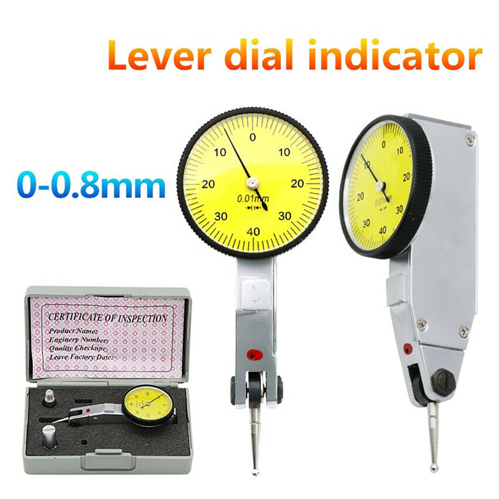 US Dial Gauge Test Indicator Precision Metric with Dovetail Rails 0-40-0 0.01mm